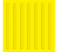 Тактильная плитка из бетона 500х500х50мм (продольный риф)