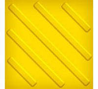 Тактильная плитка из ПВХ 500х500мм (диагональный риф)