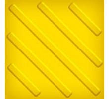Тактильная плитка из ПВХ 300х300мм (диагональный риф)
